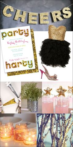 golden birthday... i am so stoked for this because i can just cover everything in gold glitter and gold spray paint!  the possibilities are endless!