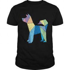 Awesome Tee Origami Dog dog t shirt Shirts & Tees
