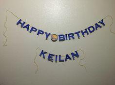 DIY Golden State Warriors Birthday Party Banner for Keilan's big 1-0 Warriors Theme Party