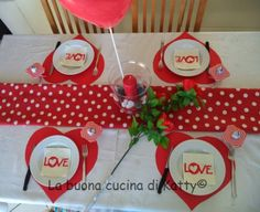 La buona cucina di Katty: Sweet table San Valentino 2014