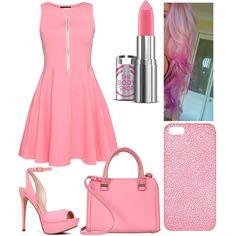 Pink by jordynchaput on Polyvore featuring polyvore, fashion, style, ALDO, Victoria Beckham and Maison Takuya