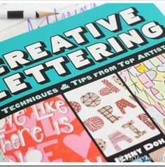 Learn how to write creatively with the Creative Lettering Workbook! #practice #handwriting