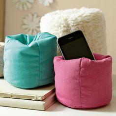 $15 Pottery Barn Teen mini beanbag cell holder (free ship)