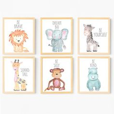 ♥ New website! ♥ www.adorenstudio.com ♥ ♥ ADDITIONAL SETS AVAILABLE! SET OF 6: https://www.etsy.com/listing/555741202/baby-animal-nursery-wall-art-animal-art?ref=shop_home_active_1 SET of 12: