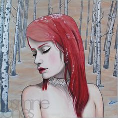 With New Seasons Come New Worries  Acrylic & Oil on Plywood Panel  Artwork copyright of Jasmine Jones 2013 ©