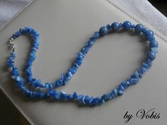 Beaded necklace with natural blue Aventurine by Vobis on Etsy, €25.00