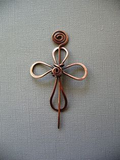 Shawl Pin, Faith a Solid Copper Scarf Pin, Shawl Pin, Sweater Pin, Cape Pin