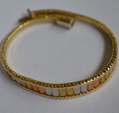 Vintage Tri Colored Gold Bracelet - Lovely 14K Gold - Lovely Style and Weight #Chain