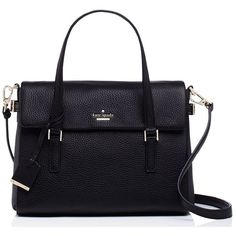Kate Spade Holden Street Small Leslie ($398) ❤ liked on Polyvore featuring bags, handbags, shoulder bags, satchels, shoulder strap bag, kate spade, shoulder strap handbags, blue handbags and kate spade purses