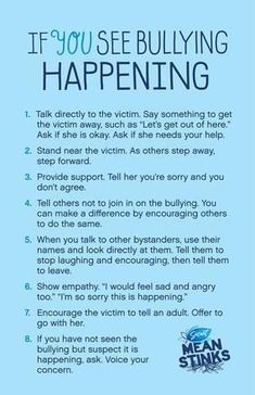 Non-verbal plan to handle bullying. Most of the people do not want to talk about being bullied this could be a gateway to communication or a release of a bully.