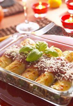 Cannelloni mit Ricotta-Spinat-Füllung - Cannelloni: Gefüllte Lasagneplatten nach Florentiner Art Rezept auf www.gofeminin.de/kochen-backen/pasta-rezepte-nudeln-kochen-d6975x31044.html