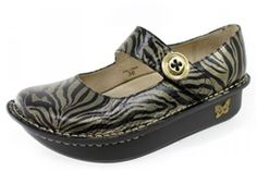 I love me some Alegria Shoes. I'm obsessed. These Zebra print ones are awesome.