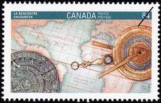 Sello: Encounter (Canadá) (Canada 92 International Stamp Exhibition) Mi:CA 1282,Sn:CA 1407,Yt:CA 1237,Sg:CA 1490