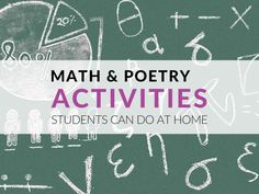 FUN Math and Poetry Activities for Students Poetry Activities, Fun Math, Math Resources, Grade 1, Mathematics, Poems, Classroom, School, Blog