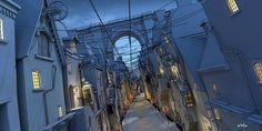 ArtStation - Dickensian Town, Rob Watkins