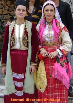Albanian folk costumes from Shestan