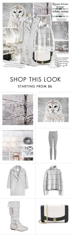 """""""Let it Snow"""" by mlucyw ❤ liked on Polyvore featuring J Brand, MANGO, Chicwish, women's clothing, women, female, woman, misses and juniors"""