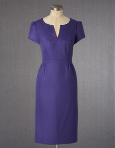 Purple V-Neck Dress.