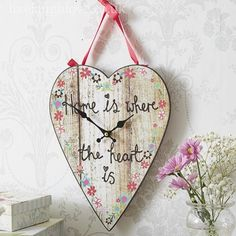 Home is Where The Heart Is Country Heart Wall Clock