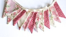 Dusky pink mini Bunting vintage style Christmas Tree | Etsy Bedroom Bunting, Pink Bunting, Vintage Style, Vintage Fashion, Christmas Tree Decorations, Girls Bedroom, Gifts For Her, Cotton Fabric, Mini