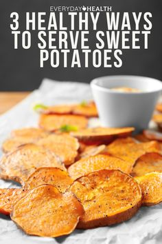 Find out here! Healthy Muffins, Healthy Food, Yummy Food, Healthy Recipes, Hasselback Sweet Potatoes, Sweet Potato Waffles, Unsweetened Almond Milk, Diet And Nutrition