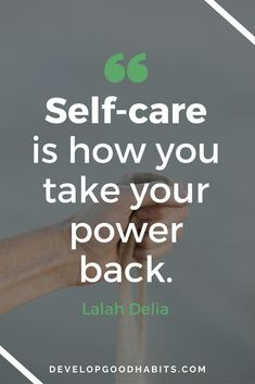 self care is the most important thing you can do. Love yourself and then you can spread that love to others.