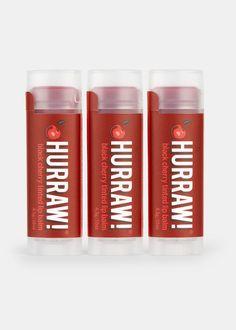 Organic Tinted Cherry Lip Balm Trio | Rodale's