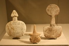 An Assemblage of Anatolian Bronze Age Idols: the First of Kultepe Type; the Second of Beycesultan Type; the Third of Kusura Type | by Ancient Art