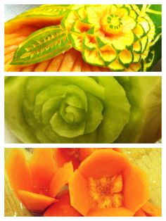 Food carvings and garnishes..my dad taught me this.  Along with ice carvings.
