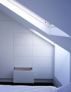 If you are lucky enough to have an attic in your home but haven't used this space for anything more than storage, then it's time to reconsider its use. An attic Loft Room, Bedroom Loft, Home Bedroom, Bedroom Storage, Attic Bedroom Designs, Attic Bedrooms, Attic Renovation, Attic Remodel, Attic Closet