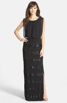 Aidan+by+Aidan+Mattox+Sequin+Chiffon+Gown+available+at+#Nordstrom