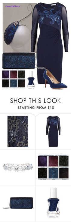 """""""Blue Sequins"""" by emms-millinery ❤ liked on Polyvore featuring Calypso St. Barth, Gina Bacconi, Jessica McClintock, Essie and Tory Burch"""