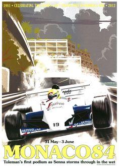 Monaco Garry Walton by Meiklejohn illustration