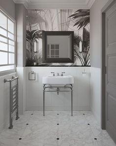 Le style Art déco apporte classe et originalité à la salle de bains. Découvrez nos 5 conseils pour adopter le style Art Déco dans votre salle de bains. Devon Devon, Black White Gold, Lighting Online, Towel Rail, Vanity Units, Bath Decor, Visual Effects, Timeless Elegance, Casablanca