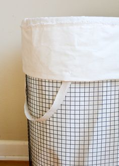 Pretty Laundry Baskets Cheap & Chic How To Make A Frenchvintageinspired Wire Hamper