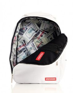 Stashed White Backpack