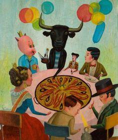 Sergio mora,illustrateur,illustration,ex-voto,spok E.T.,