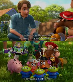 This scene wasn't meant for the six year olds in the audience.  It was for all of us Andys in the real world.  If was for all of us who grew up with Buzz and Woody.