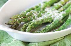 Oven Baked Asparagus Recipe substitute the Parmesan for goat cheese