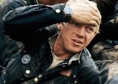 """The watch in this image is one of the McQueen """"mysteries"""", but most authorities think it is a Hanhart chronograph."""