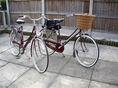 Lovely Bicycle: Vintage vs. Modern w/details for how to update a Raleigh