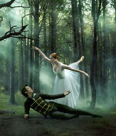 Gillian Murphy as Giselle and Qi Huan as Albrecht in the production of Giselle by the Royal New Zealand Ballet.