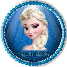 Frozen Elsa Face Edible Birthday Cake Topper OR Cupcake Topper, Decor