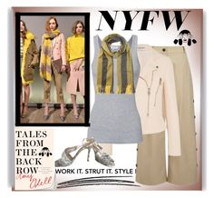 """""""New York Fashion week (Tales From The Back Bow)"""" by pink1princess ❤ liked on Polyvore featuring Maiyet, Balenciaga, Splendid, Acne Studios and Manolo Blahnik"""