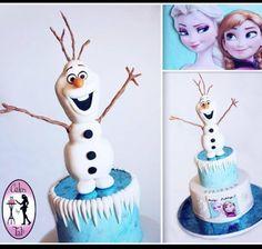Frozen/Olaf cake. So cute!