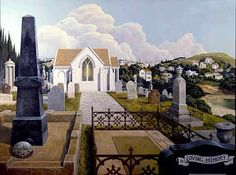 Peter  Siddell Long White Cloud, New Zealand Art, Nz Art, The Neighbourhood, Mansions, Architecture, House Styles, Kiwi, Places