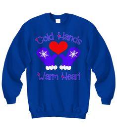 Fun Winter Cold Hands Warm Heart Sweatshirt Cold Hands, Hand Warmers, Graphic Sweatshirt, T Shirt, Comfy, Sweatshirts, Heart, Winter, Sweaters