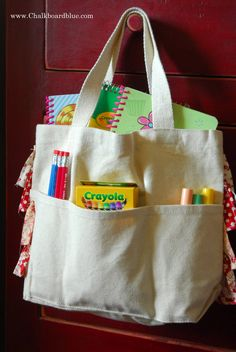 Chalkboard Blue: Let's Bag it! DIY canvas tote bags!