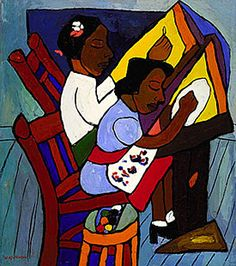 Art Class by William H. Johnson  A scene taken from his own experience as an art teacher in Harlem.