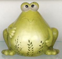 Frog made out of ceramic...but we bet you could do it with a Round Body gourd!